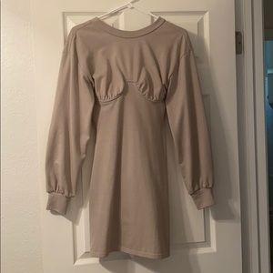 Sabo skirt Natalia Dress in Gray